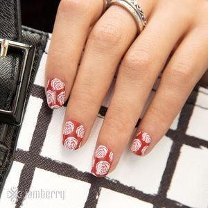 3/$10🌹Rose Exclusive Jamberry Nail Wraps Mani